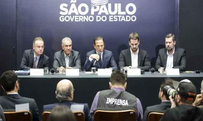 Doria e os outros governadores do PSDB prometem articular bancadas na Câmara dos Deputados. Foto: Governo do Estado de São Paulo