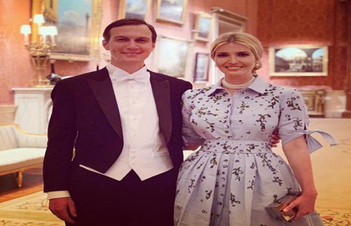 """""""Noite mágica no Palácio de Buckingham com meu melhor amigo!"""", escreveu Ivanka em uma das imagens, junto com um emoji de coração - Foto: Reprodução/Instagram"""