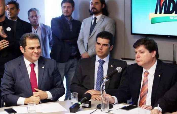 O encontro foi promovido pelo deputado Baleia Rossi (MDB/SP) e teve a presença de governadores como Helder Barbalho e Renan Filho. Foto: Carol Menezes /SECOM