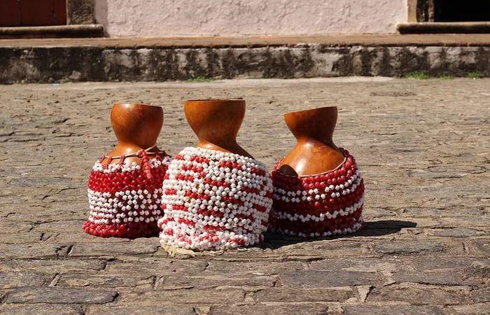 Agbês do Afoxé Alafin Oyó. Foto: Samuel Calado/DP