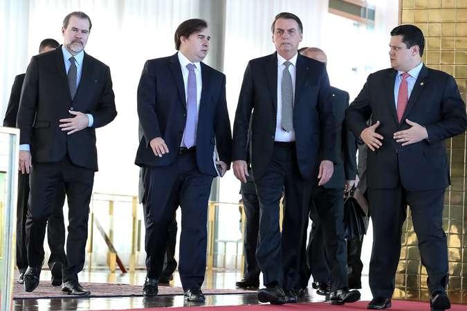 Presidentes de poderes tiveram reunião em maio para tratar de pacto. Foto: Marcos Corrêa/Presidência da República (Presidentes de poderes tiveram reunião em maio para tratar de pacto. Foto: Marcos Corrêa/Presidência da República)