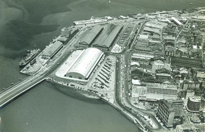 Vista aérea do Porto do Recife, Cais de Santa Rita e do bairro de São Jose, em 1971. Foto: Arquivo/DP/D.A Press