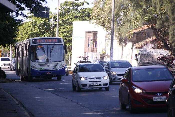 Trecho desbloqueado fica em frente ao Colégio São Bento. Foto: Sandro Barros