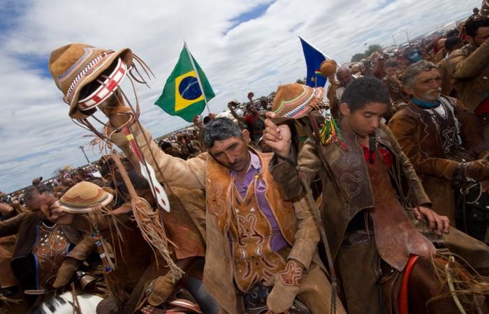 Vaqueiros na 48ª Missa do Vaqueiro de Serrita. Foto: Divulgação.
