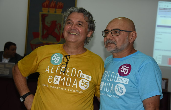 Moacyr Araújo e Alfredo Gomes formam a chapa mais votada. Foto: Passarinho/UFPE/Divulgação