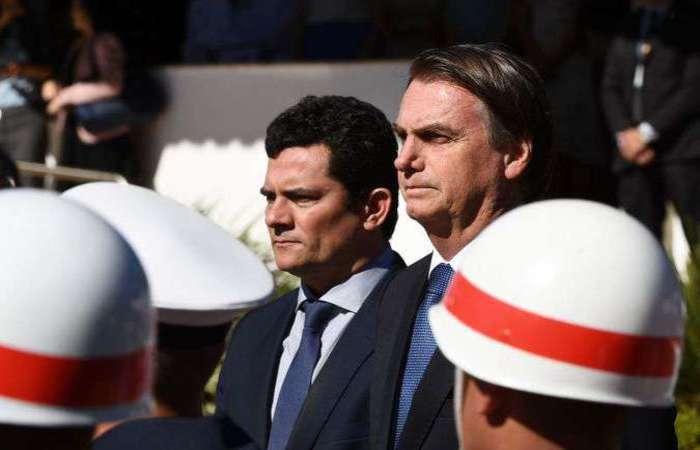 Sérgio Moro e Jair Bolsonaro tiveram outro encontro nesta quarta-feira (12/6), dessa vez com a participação de diretor-geral da Polícia Federal. Foto: AFP / EVARISTO SA