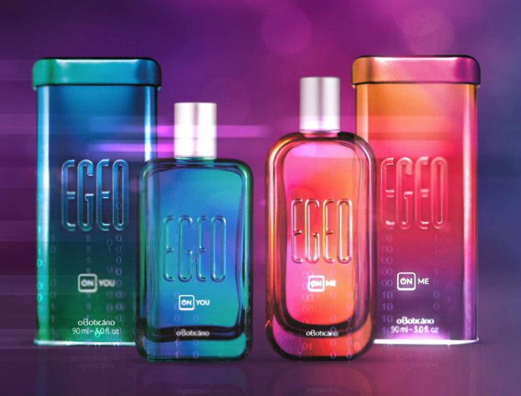 As fragrâncias Egeo On You e Egeo On Me foram produzidas com suporte de A.I, um feito pioneiro na perfumaria. Foto: O Boticário/Divulgação