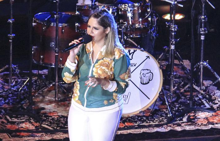 Marília Mendonça em Brasília durante gravação do projeto Todos os Cantos. Foto: Marina Curcio/ESP. DP