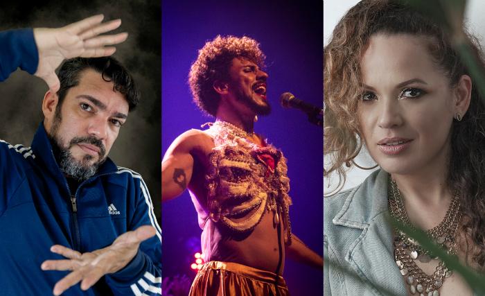 Lício Gomez, Ciel Santos e Joanah Flor são algumas das atrações. Fotos: Lício Gomez, Duda Vasconcelos e Vitor Magall/Divulgação