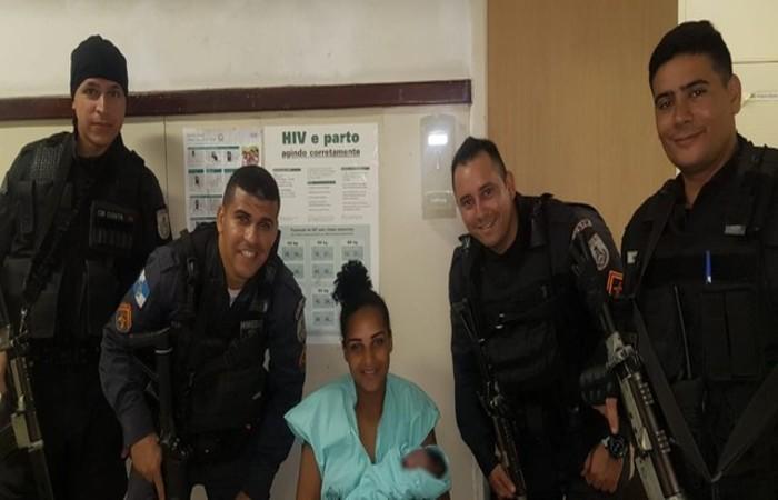 Roberta Santos Viana deu à luz e acabou presa. Foto: Divulgação/PMERJ