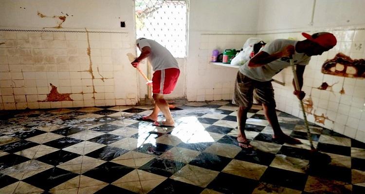 Casarão passou por limpeza para início das ações de reforma. Foto: reprodução/Instagram