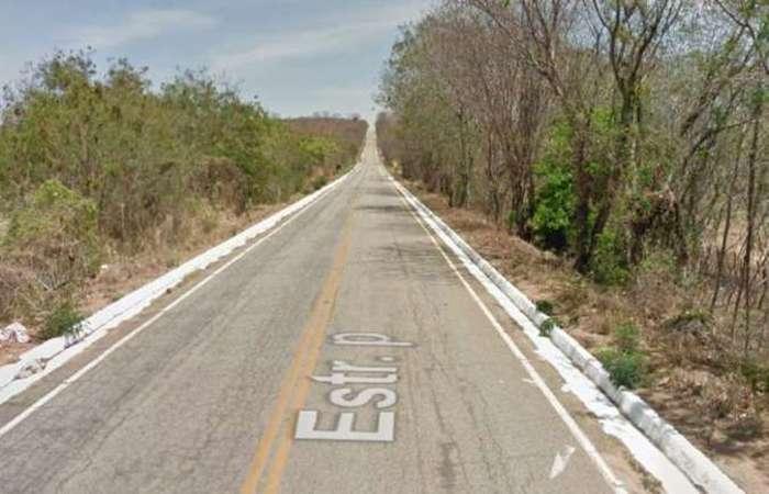 Trecho da BR-367, onde a polícia prendeu o suspeito. Rodovia liga Santa Cruz Cabrália (BA) a Gouveia, na Região Central do estado, passando por Araçuaí. Foto: Reprodução/Google Maps