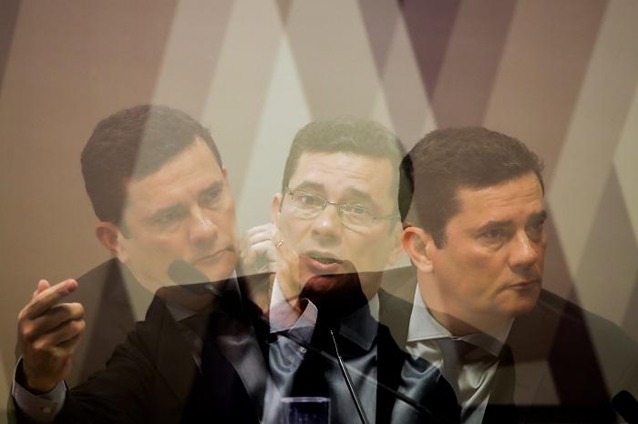 Ato também é de apoio ao ex-juiz e ministro da Justiça, Sergio Moro. Foto: GABRIELA BILó/ESTADÃO CONTEÚDO