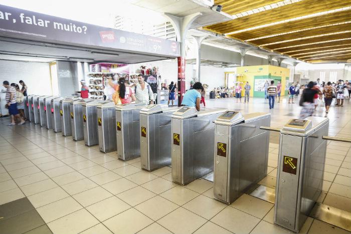 Deste domingo (7) a 7 de setembro, o preço da passagem do metrô será de R$ 2,60. Foto: Paulo Paiva/DP.