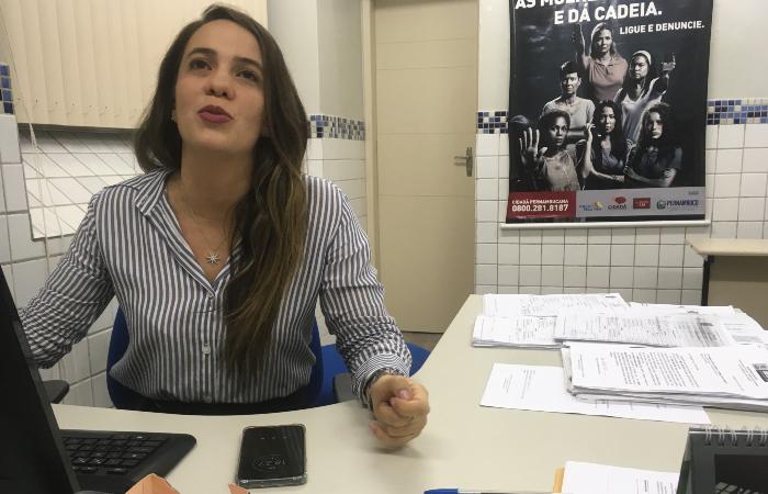 Delegada Bruna Falcão, titular da Delegacia da Mulher de Santo Amaro - Diogo Cavalcante/DP
