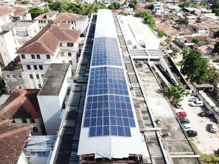 Hospital é o terceiro ligado à SES a produzir energia elétrica de forma sustentável. Foto: Divulgação