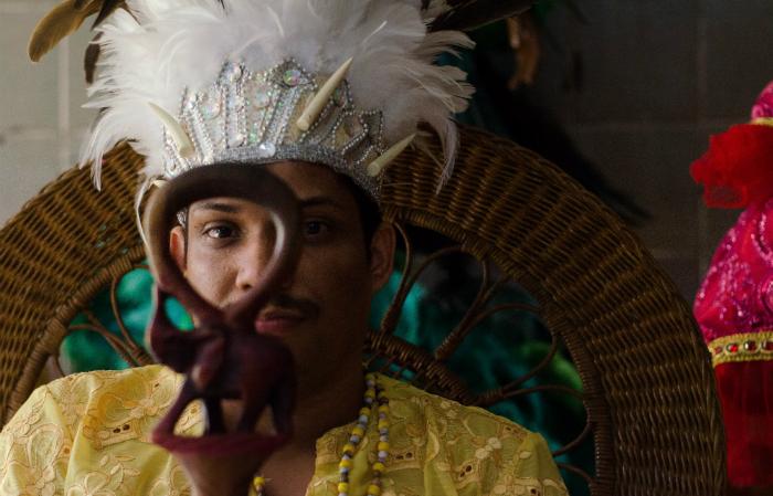 Pai Jeferson Nagô, de Caboclinhos Carijós do Recife. Foto Jan Ribeiro/Divulgação