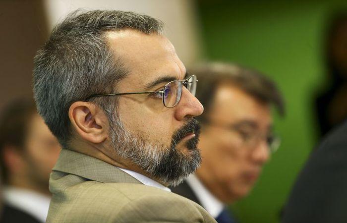 Ministro da Educação, Abraham Weintraub, durante a apresentação do Compromisso Nacional pela Educação Básica. Foto: Marcelo Camargo/Agência Brasil