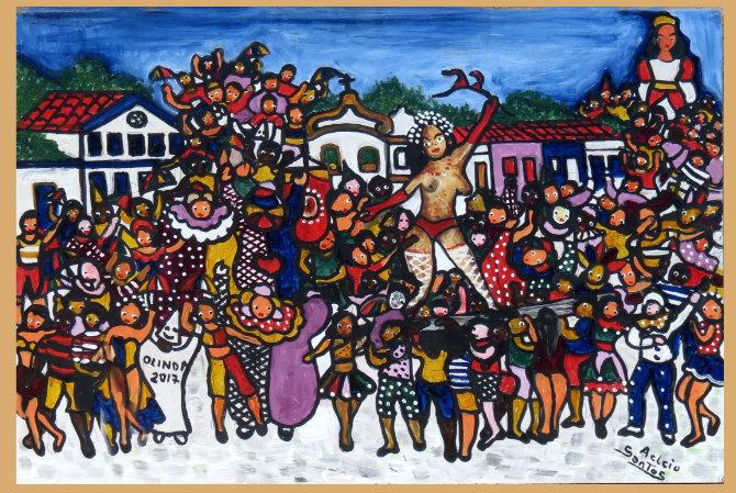 As cores e atmosfera de Olinda marcam a obra de Aelcio Santos. Foto: Aelcio Santos/Divulgação.