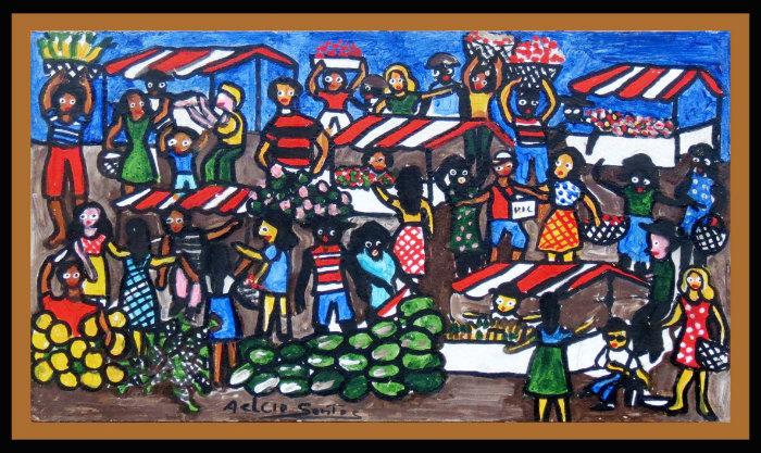 O popular na obra do artista. Foto: Aelcio Santos/Divulgação.