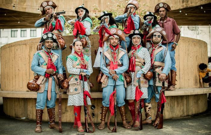 O grupo de xaxado Cabras de Lampião. Foto: Cabras de Lampião/Divulgação