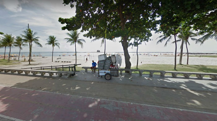 Afogamento aconteceu nas imediações do antigo quartel, em Olinda. Foto: Google Street View/Reprodução.