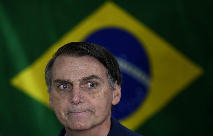Bolsonaro questionou durante entrevista coletiva para correspondentes estrangeiros em Brasília. Foto: Mauro Pimentel/AFP