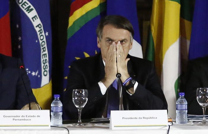 """Na sexta-feira Bolsonaro se voltou para o ministro da Casa Civil e disse para """"não dar nada"""" ao governador do Maranhão, Flávio Dino, do PCdoB.  FOTO: PEU RICARDO/DP FOTO"""