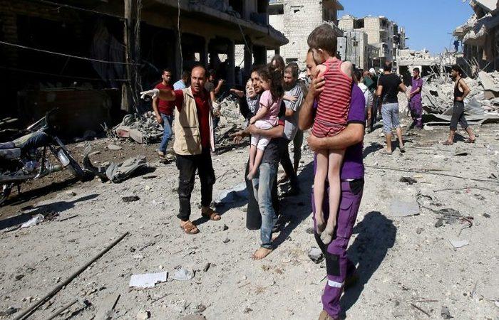 A região segue sob controle do grupo extremista Hayat Tahrir al-Sham (HTS, ex-facção síria da rede Al-Qaeda). Foto: AFP.
