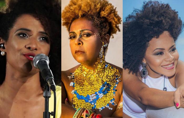 Gabi da Pele Preta, Isaar e Sue. Foto: YouTube/Reprodução, Isaar/Divulgação e YouTube/Reprodução