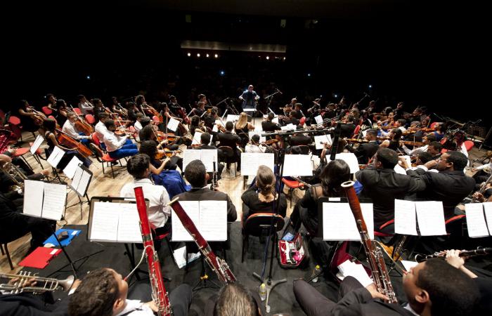 Orquestra Criança Cidadã dos Meninos do Coque. Foto: Leandro Lima/Divulgação