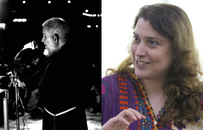 Frei Damião e cineasta Deby Brennand. Foto: Machado Bitencourt/Reprodução e Tarciso Augusto/Divulgação