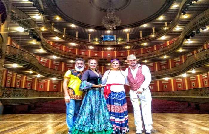 Luciano, Soraya, Ingrid Ramanush e Nicolas Ramanush. Foto: Francisco Alexandrino/Cortesia