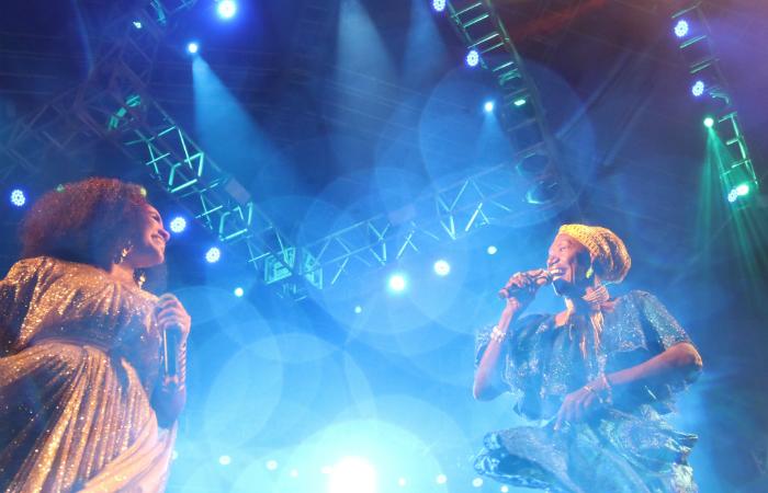 Marienne de Castro e Lia de Itamaracá. Foto: Fernando Figueirôa/FUNDARPE