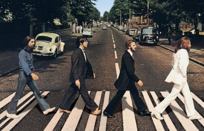 """Capa do """"Abbey Road"""", seu último álbum de estúdio. Foto: Divulgação."""