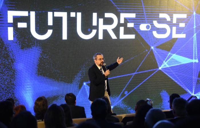 Ministro Abraham Weintraub, na apresentação do Future-se - Foto: Luis Fortes/MEC
