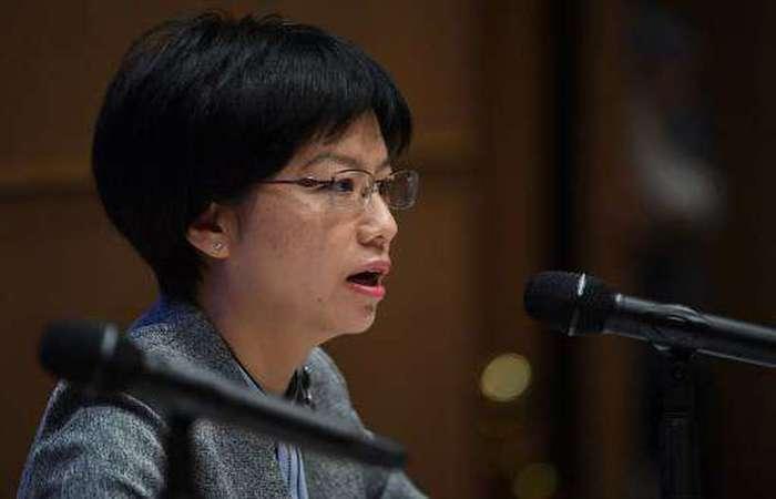 Xu Luying, porta-voz do Gabinete de Assuntos de Hong Kong e Macau do Conselho de Estado da China continental. Foto: Reg Baker/AFP