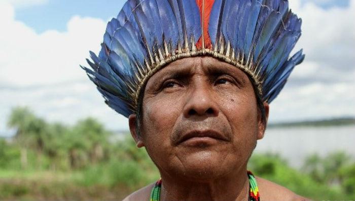 O cacique-geral dos mundurucus, Arnaldo Kaba. Foto: ©Greenpeace/Eliza Capai.