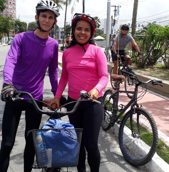 Nery e Cristiane também aprovaram a iniciativa e torcem para que não haja depredação. Foto: Patrícia Monteiro /DP
