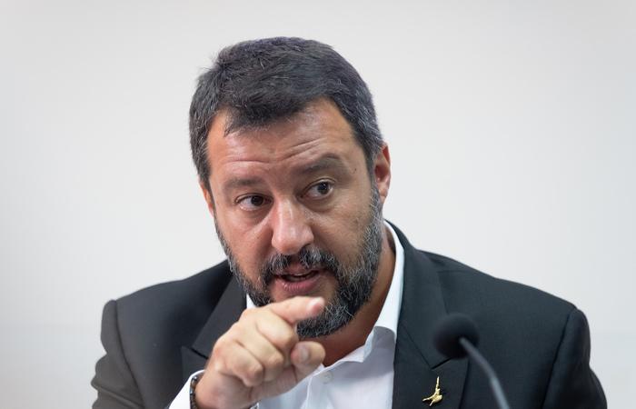 Matteo Salvini, ministro do Interior e vice-premiê. Foto: Eliano Imperato/AFP
