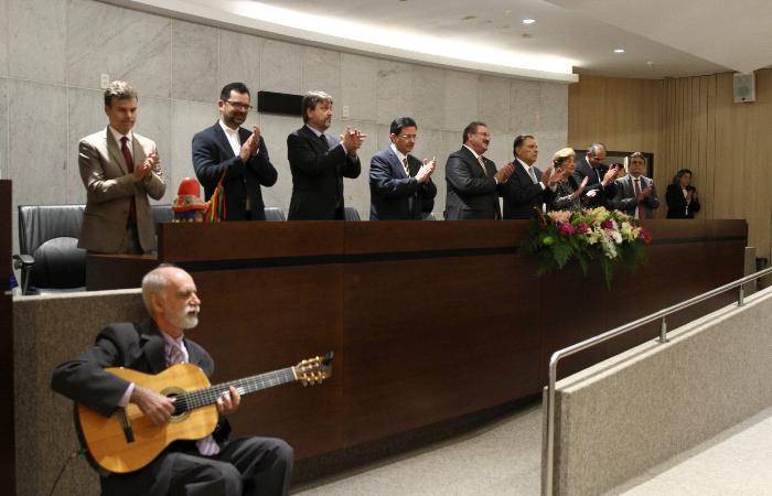 Solenidade no auditório Sérgio Guerra marcou aniversário de Joaquim Nabuco - Foto: Bruna Costa/Esp. DP