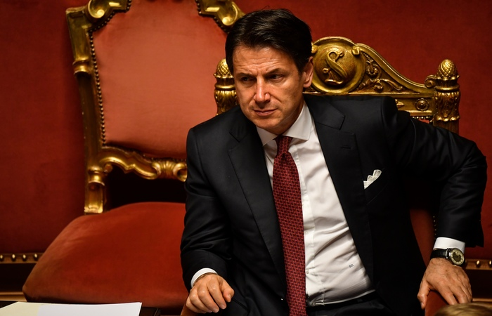 Giuseppe Conte, ex-primeiro-ministro italiano. Foto: Andreas Solaro/AFP