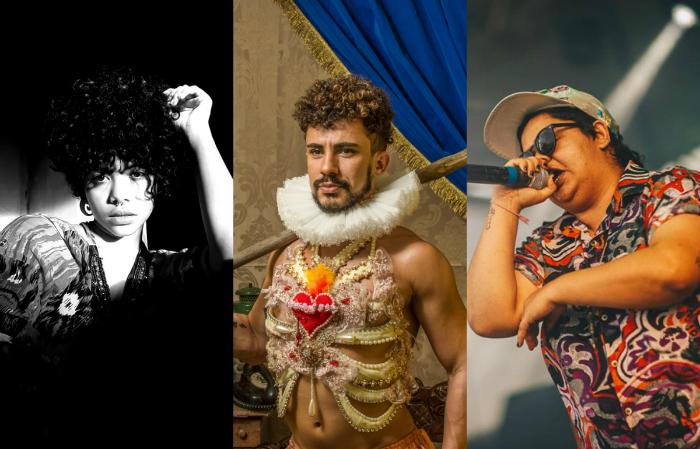 Nix La Marge, Ciel Santos e Jéssica Caitano. Foto: Nix La Marge, Diego Cruz e Luana Tayze/Divulgação