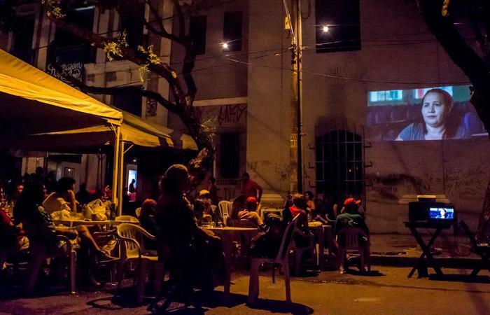 Ação de cineclube no Armazém do Campo, no Centro. Foto: PH Reinaux/Divulgação