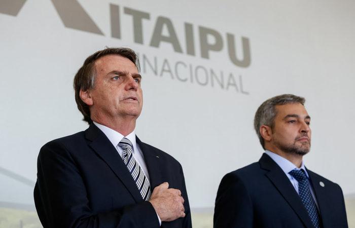 Jair Bolsonaro e Mario Abdo Benítez, presidente do Paraguai. Foto: Alan Santos/PR