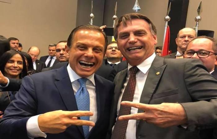 Doria e Bolsonaro tinham uma relação melhor antes do nome do governador ganhar destaque como uma das prováveis candidaturas à presidência nas próximas eleições. Foto: Reprodução/Redes Sociais (Foto: Reprodução/Redes Sociais)