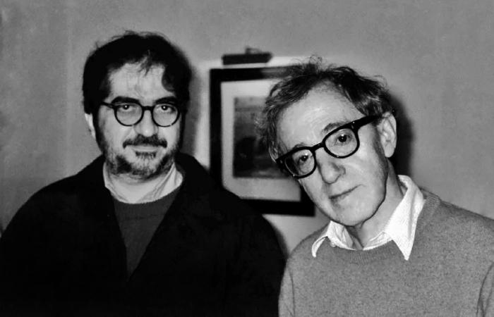 Geneton e Woody Allen, em 2009. Foto: Cortesia da Cepe