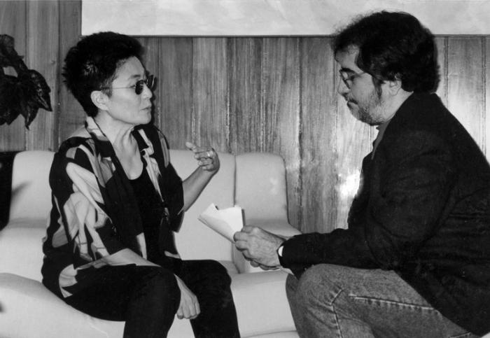 Geneton e Yoko Ono, em 2011. Foto: Cortesia da Cepe