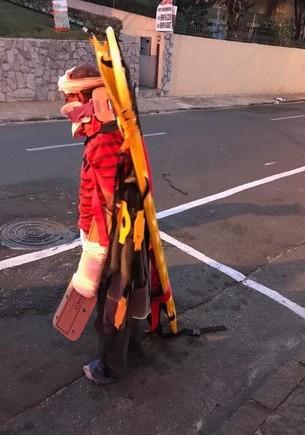 Paciente foi flagrado na rua nestas condições - Foto: Arquivo Pessoal