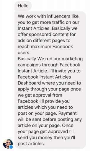 Hacker entrou em contato com editores da revista sugerindo parceria para publicação de artigos do Instant Articles no Facebook Foto; Reprodução